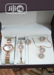 Dior Female Rose Gold Wristwatch,Earrings, Bracelet & Necklace | Jewelry for sale in Lagos State, Surulere