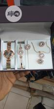 Dior Female Rose Gold Wristwatch,Earrings, Bracelet & Necklace   Jewelry for sale in Surulere, Lagos State, Nigeria