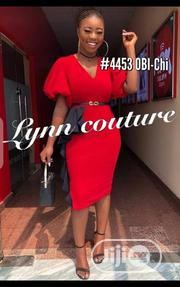 New Quality Female Vneck Red Gown | Clothing for sale in Lagos State, Ikeja