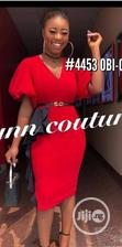 New Quality Female Vneck Red Gown | Clothing for sale in Ikeja, Lagos State, Nigeria