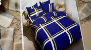 Beautiful Bedding Set of Blue With White Stripes   Home Accessories for sale in Lagos State, Oshodi-Isolo