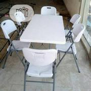 Plastic Folding Table With Sets of Chairs | Furniture for sale in Lagos State, Surulere