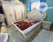 Royal Bed With Wardrobe , Two Light Stand and Dressing Mirror | Furniture for sale in Lagos State, Lekki Phase 1