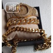 Keep Moving Set Of Iced Wristwatch With Bangle And Necklace | Jewelry for sale in Lagos State, Lagos Island
