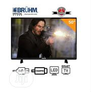 Bruhm 50-Inch Smart 4K UHD LED TV- Black With Wall Bracket | TV & DVD Equipment for sale in Rivers State, Port-Harcourt