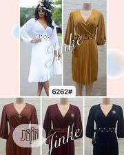 New Quality Female Vneck Flare Gown | Clothing for sale in Lagos State, Magodo
