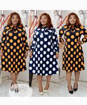 New Quality Female Collar Long Sleeve Flare Gown | Clothing for sale in Lagos State, Ojodu