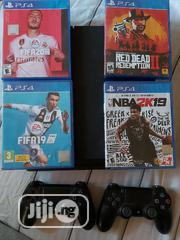 Playstation 4 500gb + 4 Games+ Two Original Controllers   Video Games for sale in Lagos State, Lagos Mainland