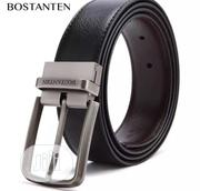 Bostanen Black Leather Genuine Cow Leather Belt | Clothing Accessories for sale in Lagos State, Yaba