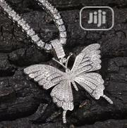 Iced-Out Butterfly Pendant With a Tennis Chain | Jewelry for sale in Lagos State, Lagos Mainland