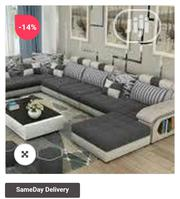Exclusive Audreyd 8 Seater Sectional Sofa Set (Free Centre Table | Furniture for sale in Lagos State, Ojo