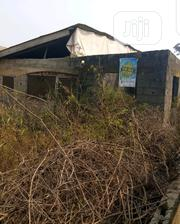 Half Plot of Land With an Uncompleted Three Bedroom Flat | Land & Plots For Sale for sale in Lagos State, Ikorodu