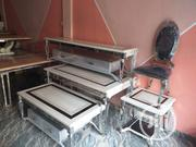 High Quality Versace Marble Dining Set,Table With 2 Side, And TV Stand | Furniture for sale in Lagos State, Surulere