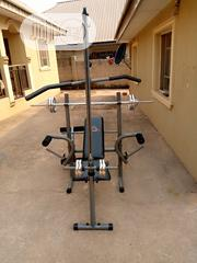 Multi Purpose Weight Bench With 50 Kg Barbell | Sports Equipment for sale in Lagos State, Lekki Phase 2