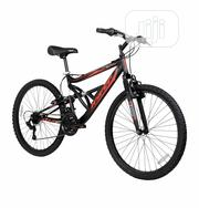 "Hyper 26"" Shocker Men's Dual Suspension Mountain Bike, Black 