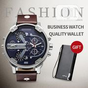 Business High Quality Leather Men's Quartz Watch With Gift | Watches for sale in Lagos State, Maryland