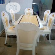 Royal Marble Dining Table With Six Durable Leather Chairs | Furniture for sale in Lagos State, Ikoyi