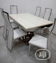 Marble Dining Table With Six Chairs | Furniture for sale in Lagos State, Victoria Island