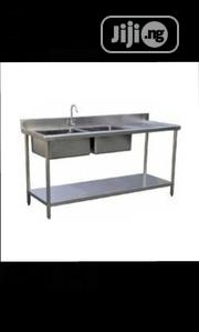 Multi Double Bowl And Double Drainers Sink 2000mm | Restaurant & Catering Equipment for sale in Lagos State, Ikeja