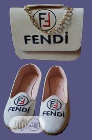 FENDI Shoe And Bag Set - White | Shoes for sale in Lagos State, Isolo