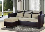 L-Shape Leather+Fabric Sofa | Furniture for sale in Lagos State, Lekki Phase 2