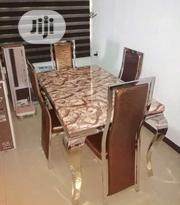 Marble Dinning Table by 4 Chairs | Furniture for sale in Lagos State, Ikoyi