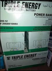 12 Volts, 200amphs Triple Energy Available With 1yr Warranty | Solar Energy for sale in Lagos State, Ojo