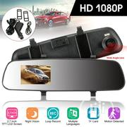 Dual Lens Video Recorder Dash Cam Car DVR Rear View Mirror Camera SD   Vehicle Parts & Accessories for sale in Lagos State, Ikoyi