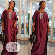New Lady Wine Long Flare Gown | Clothing for sale in Lagos State, Surulere