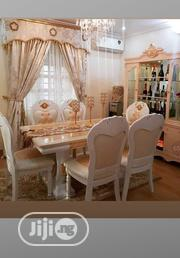 This Royal Marble Dinning Table With 6chairs, Royal Cabinet Shelf | Furniture for sale in Lagos State, Ojo
