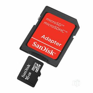 Sandisk 16gb Microsdhc Memory Card With Adapter
