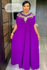 Quality Female Blue Bubu with Gold Embroidery     Clothing for sale in Lagos State, Ikoyi