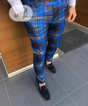 New Quality Men Blue Designer Trousers | Clothing for sale in Lagos State, Victoria Island