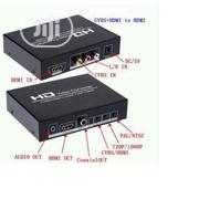 HDE Pal-ntsc Video Signal Converter With Hdmi/Cvbs In To Hdmi Out | Accessories & Supplies for Electronics for sale in Lagos State, Ikeja