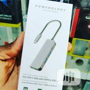 Powerology 4 In 1 Type-c Hub With HDMI And USB 3.0 Adapter | Computer Accessories  for sale in Lagos State, Ikeja