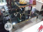 High Quality Imported Versace Gold Centre Table With 2 Side Stools | Furniture for sale in Lagos State, Ikeja