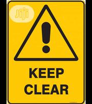 Keep Clear Sign (A4 Paper Size ) | Safety Equipment for sale in Lagos State, Lagos Island