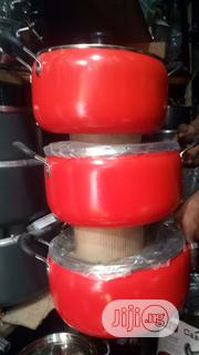 3-sets Red Non Stick Cookware   Kitchen & Dining for sale in Lagos State, Lagos Mainland