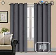 Beautiful Blackout Grey Curtains for Home Decor | Home Accessories for sale in Lagos State, Yaba
