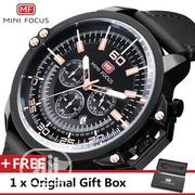 Mini Focus Top Luxury Black Leather Wrist Watch | Watches for sale in Lagos State, Ikeja