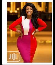 New Ladies Fitted Logn Sleeve Red Gown   Clothing for sale in Lagos State, Amuwo-Odofin