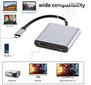 Usb C To HDMI Port And Usb 3.0 And Type C Port   Computer Accessories  for sale in Lagos State, Ikeja