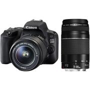 Canon EOS 2000D DSLR Camera With 18-55mm 75-300mm Lens   Photo & Video Cameras for sale in Edo State, Benin City