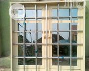 Casement Window With Foreign Galvanised Pipe Protector   Windows for sale in Rivers State, Port-Harcourt