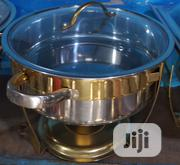 Round Chaffing Dish With Gold Stand | Restaurant & Catering Equipment for sale in Lagos State, Lagos Island