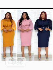 New Female Quality Collar Long Sleeve Gown | Clothing for sale in Lagos State, Victoria Island