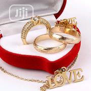 Glass Gold Wedding Ring Set With Free Gift | Jewelry for sale in Lagos State, Lagos Mainland