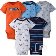 Gerber 5-Pack Boys Sports Onesies Short Sleeve Bodysuits | Children's Clothing for sale in Lagos State, Lagos Mainland