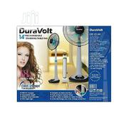 "Duravolt 14"" Rechargeable Standing Fan + Free Latern 