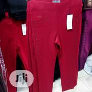 New Quality Female Stone Design Red Trouser | Clothing for sale in Lagos State, Victoria Island